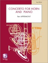 Concerto for horn and piano Bert Appermont Partition laflutedepan