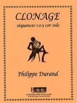 Philippe Durand - Clonage - Séquences 1-2-3 - Partition - di-arezzo.fr