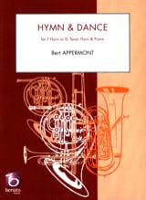 Hymn et dance Bert Appermont Partition Cor - laflutedepan.com