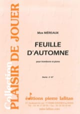 Feuille d'automne Max Méreaux Partition Trombone - laflutedepan.com
