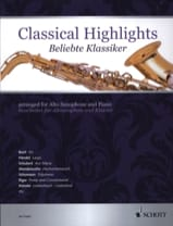 Classical highlights Partition Saxophone - laflutedepan.com