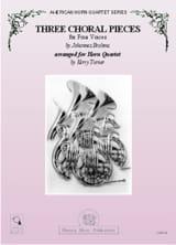 Trois pièces choral à quatre voix BRAHMS Partition laflutedepan.com