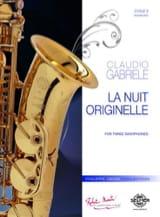 Claudio Gabriele - La nuit originelle - Partition - di-arezzo.fr