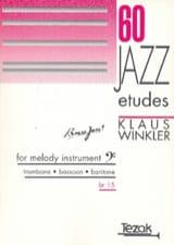 60 Jazz etudes Klaus Winkler Partition Trombone - laflutedepan.com