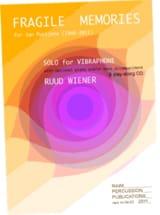 Ruud Wiener - Fragile memories - Partition - di-arezzo.fr