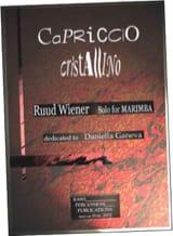Ruud Wiener - Capriccio cristallino dédié à Daniella Ganeva - Partition - di-arezzo.fr
