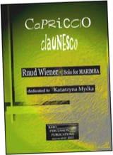 Ruud Wiener - Capriccio claunesco dédié à Katarzyna Mycka - Partition - di-arezzo.fr