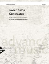 Contrastes Javier Zalba Partition Saxophone - laflutedepan.com
