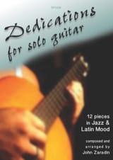 Dedications for Solo Guitar John Zaradin Partition laflutedepan.com