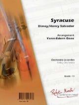 Henri Salvador - Syracuse - Partition - di-arezzo.fr