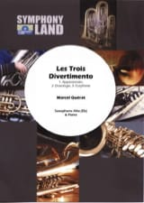 Marcel Quérat - Trois 3) divertimento pour saxophone alto - Partition - di-arezzo.fr