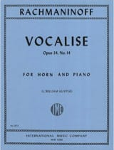 Vocalise Opus 34 - N°14 RACHMANINOV Partition Cor - laflutedepan.com