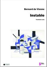 instable Vienne Bernard de Partition Trombone - laflutedepan
