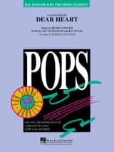 Henry Mancini - Dear Heart - Pops For String Quartet - Partition - di-arezzo.fr