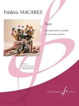 Kutz Frédéric Macarez Partition Multi Percussions - laflutedepan.com