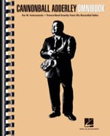 Canonball Adderley - Cannonball Adderley - Omnibook For B Flat Instruments - Sheet Music - di-arezzo.co.uk