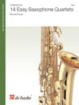 14 Easy Saxophone Quartets Pascal Proust Partition laflutedepan.com