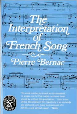 The Interpretation of French Song Pierre BERNAC Livre laflutedepan