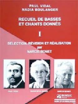 Narcis BONET - Recueil de basses et chants donnés, vol. 1 - Livre - di-arezzo.fr