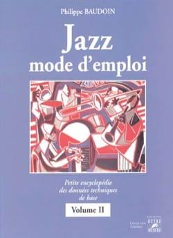 Jazz mode d'emploi, vol. 2 Philippe BAUDOIN Livre laflutedepan