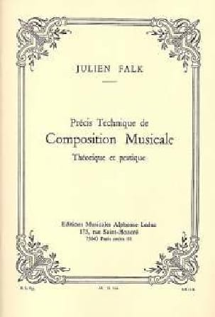 Julien FALK - Precise technique of musical composition - Book - di-arezzo.co.uk