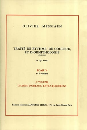Traité de rythme, de couleur et d'ornithologie - Tome 5 vol. 2 laflutedepan