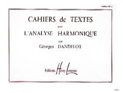 Georges DANDELOT - Textbooks for Harmonic Analysis, Volume 1 - Book - di-arezzo.co.uk