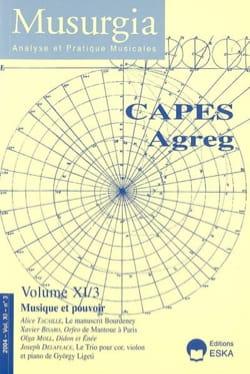 Musurgia, vol. XI - n° 3 (2004) : CAPES Agreg - laflutedepan.com
