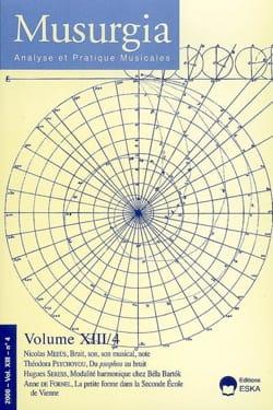 Revue - Musurgia, vol. XIII - n° 4 (2006) - Livre - di-arezzo.fr