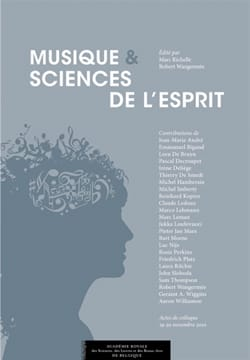 Musique et sciences de l'esprit Marc RICHELLE Livre laflutedepan