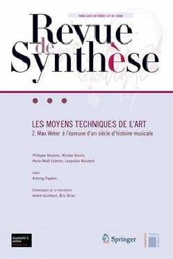 Revue de synthèse : Les moyens techniques de l'art Revue laflutedepan
