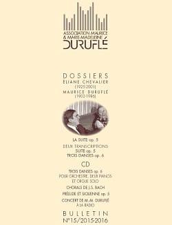 Association Maurice & Marie-Madeleine Duruflé : bulletin n° 15 (2015/2016) laflutedepan