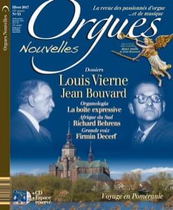 Orgues Nouvelles n° 35: Hiver 2017 - Revue - Livre - laflutedepan.com