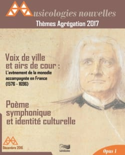 Thèmes Agrégation 2017 - Nouvelles Musicologies - laflutedepan.com