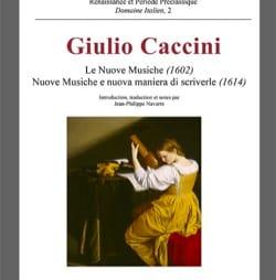 Le nuove musiche (1602) Giulio CACCINI Livre laflutedepan