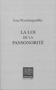 La loi de la pansonorité Ivan WYSCHNEGRADSKY Livre laflutedepan