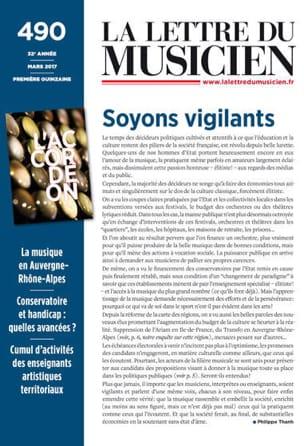 Revue - La lettre du Musicien n° 490: DOSSIER ACCORDEON - Livre - di-arezzo.fr