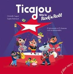 Ticajou fête le rock'n roll Christelle SAQUET Livre laflutedepan