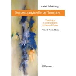 Fonctions structurelles de l'harmonie SCHOENBERG Livre laflutedepan