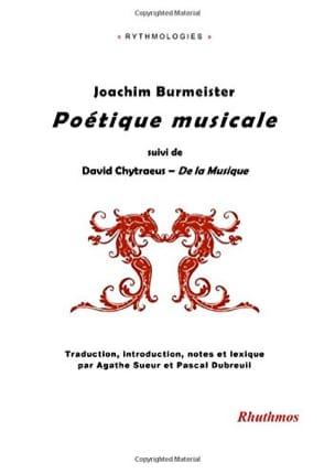 Poétique musicale Joachim BURMEISTER Livre Les Epoques - laflutedepan