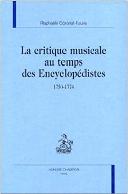 La critique musicale au temps des encyclopédistes (1750-1774) - laflutedepan.com