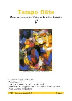 de l'association d'histoire de la flûte française Revue - Tempo flûte, n° 18 - Second semestre 2018 - Livre - di-arezzo.fr
