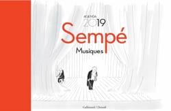 Sempé : musique ! : agenda 2019 SEMPÉ Jean-Jacques Livre laflutedepan