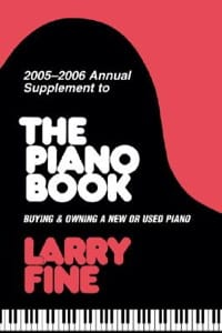 2005-2006 annual supplement to The piano book Larry FINE laflutedepan