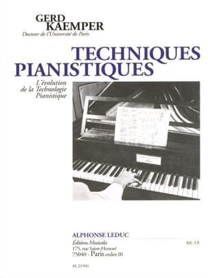 Techniques pianistiques Gerd KAEMPER Livre laflutedepan