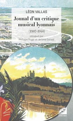 Journal d'un critique musical lyonnais Léon VALLAS Livre laflutedepan