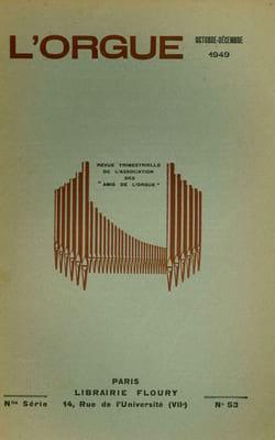 Revue - Organ n ° 53: Michel Corrette and the organ (1707-1795) - Book - di-arezzo.co.uk