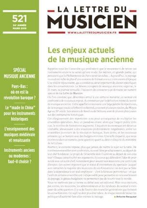 La lettre du musicien, n° 521 - mars 2019 Revue Livre laflutedepan