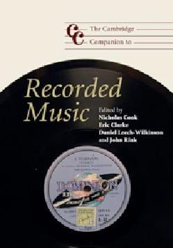 The Cambridge companion to Recorded music Nicholas COOK laflutedepan