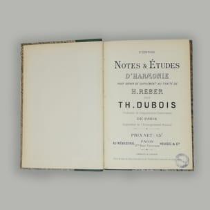 Notes et études d'harmonie - Théodore DUBOIS - laflutedepan.com